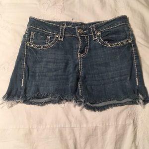 jean bling shorts